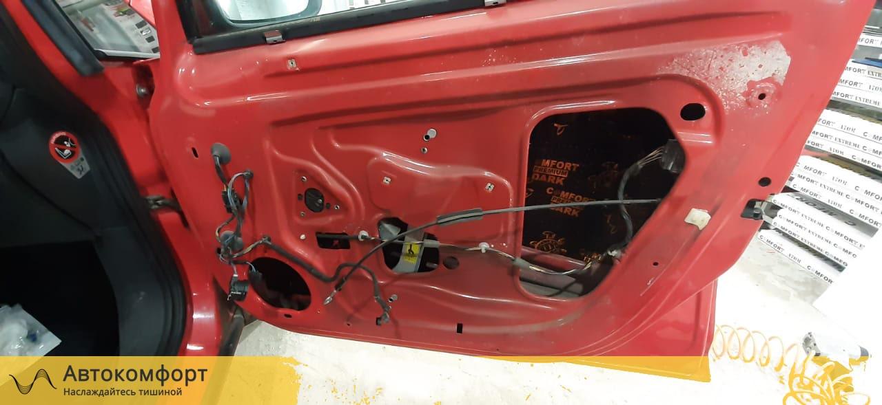 Шумоизоляция дверей Opel Corsa E| Опель Корса Е