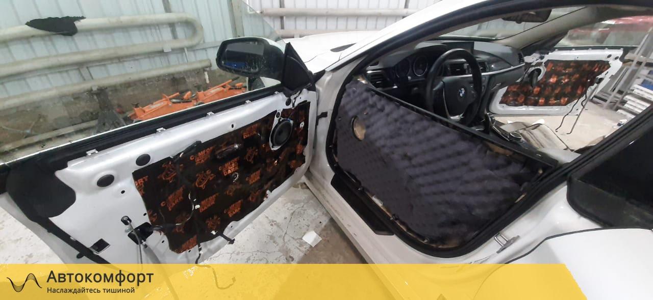 Шумоизоляция дверей BMW 4 F36 GT Gran Tourismo | БМВ Ф36 ГТ