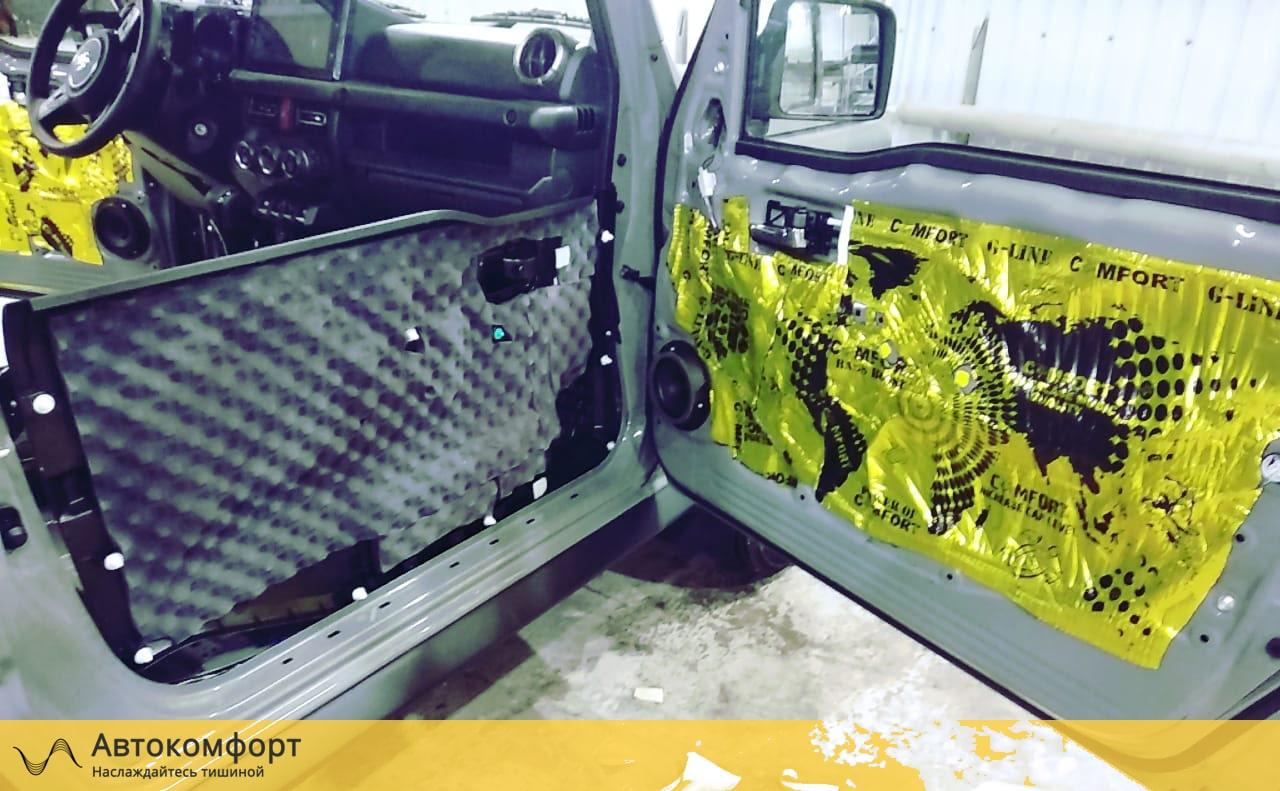 Шумоизоляция дверей Suzuki Jimny 4 | Сузуки Джимни IV