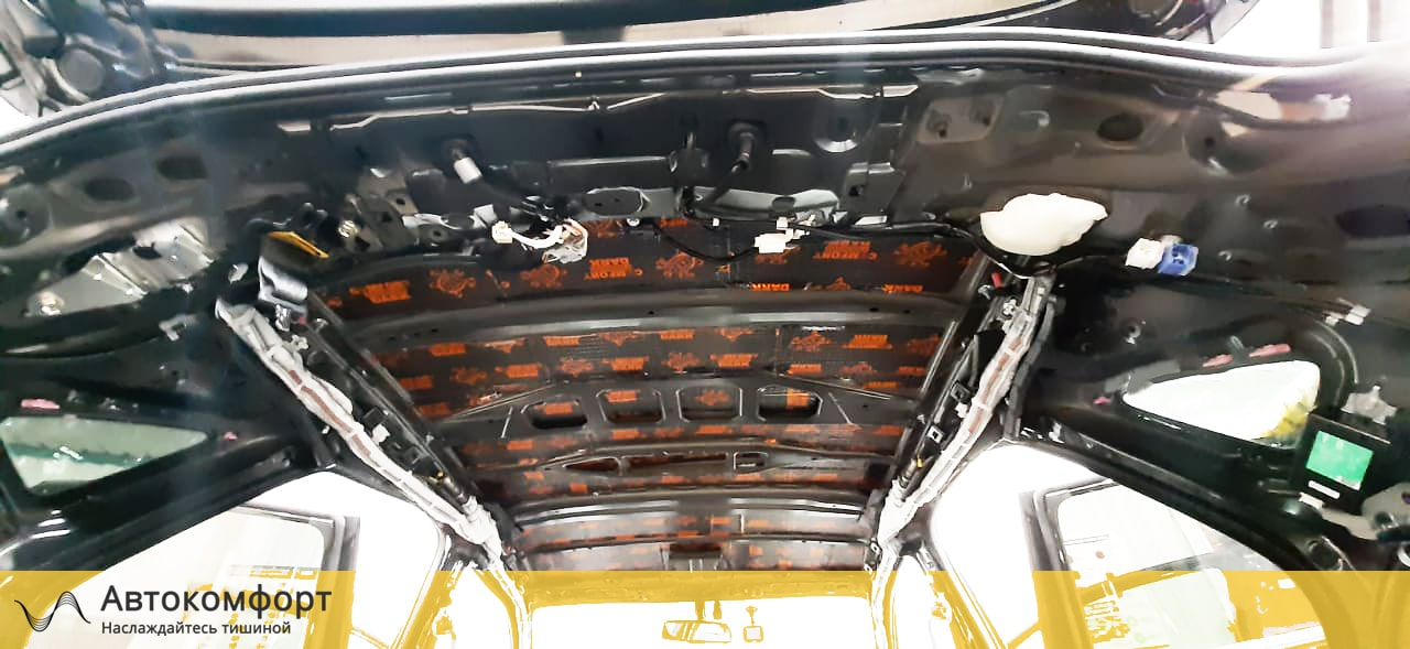 Шумоизоляция крыши (потолка) Lexus NX | Лексус НХ