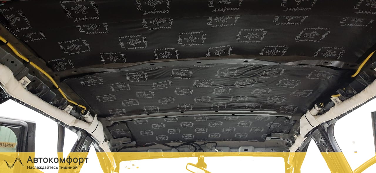 Шумоизоляция крыши (потолка) Chery Tiggo 5   Чери Тигго