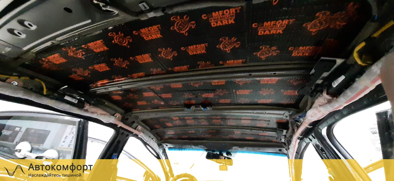 Шумоизоляция крыши (потолка) Hyundai Elantra 6 AD | Хендай Элантра VI
