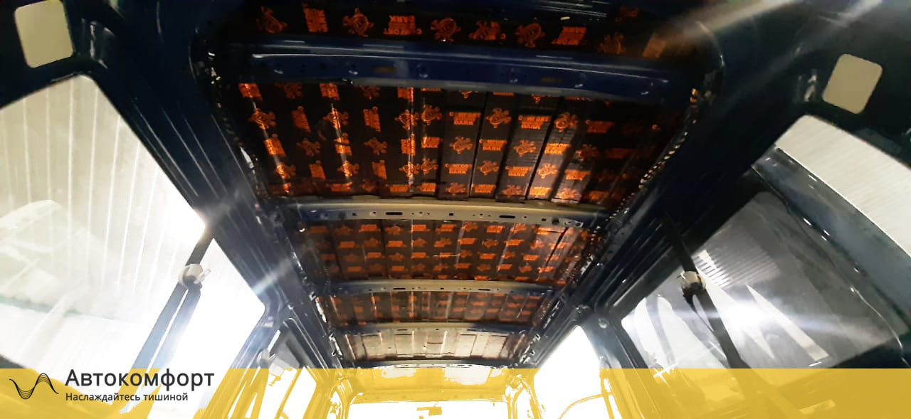 Шумоизоляция крыши (потолка) Volkswagen Transporter T5 | T6.1 | Транспортер Т5 и 6