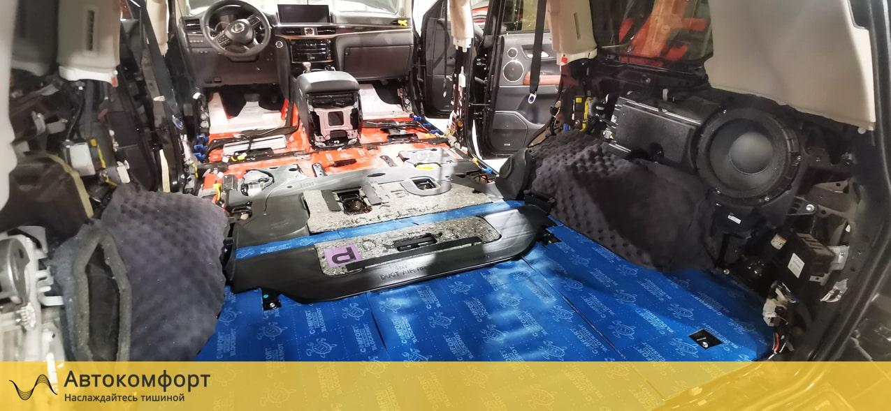 Шумоизоляция багажника Lexus LX570 (Лексус ЛХ)
