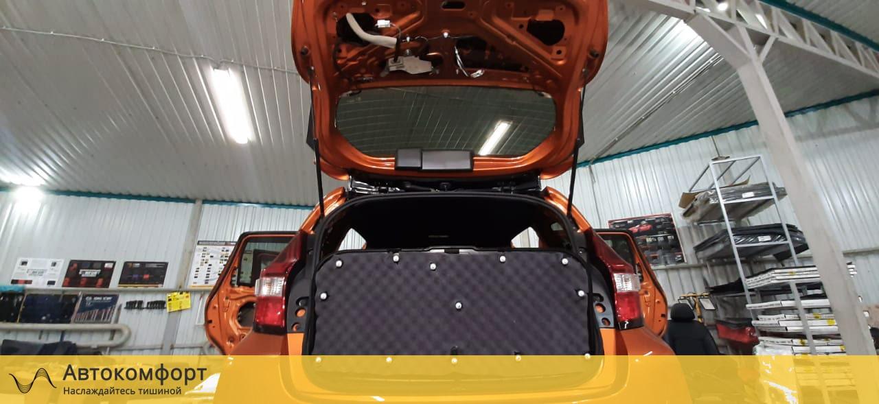 Зашумленая крышка багажника ниссан ноут