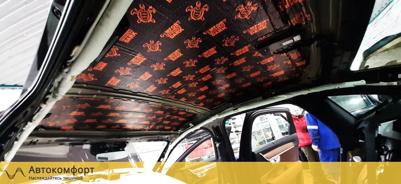 Виброизоляция потолка Volvo S90